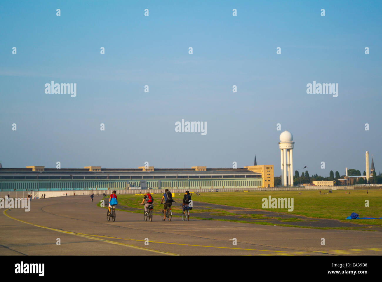 Tempelhof former airport, west Berlin, Germany - Stock Image