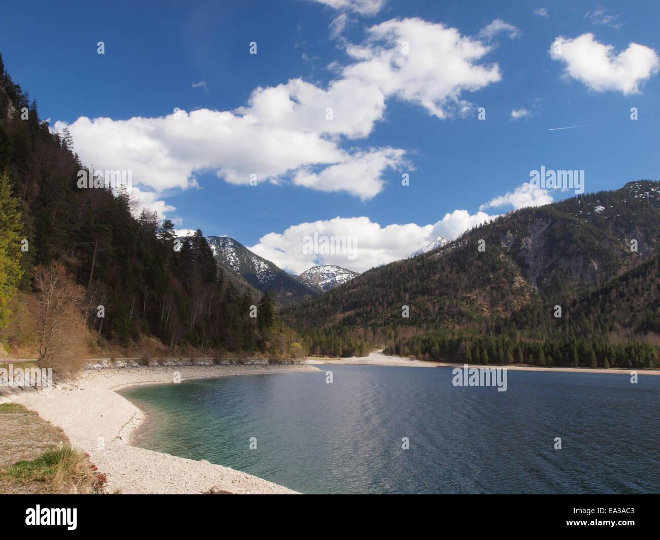 Plansee in Austria, Tyrol Stock Photo