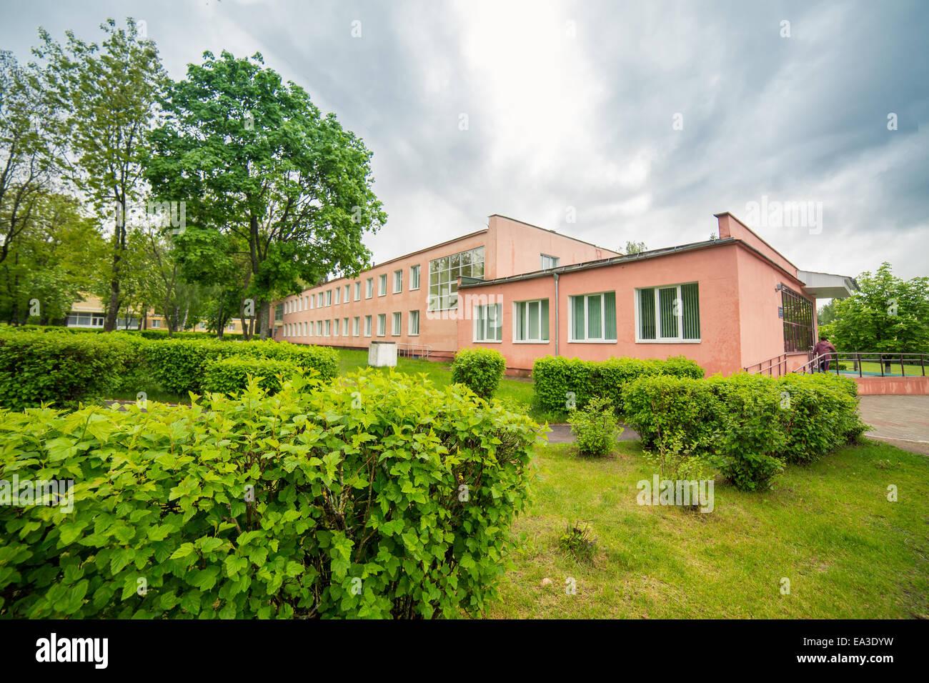 Hotel building, Minsk region, Belarus Stock Photo