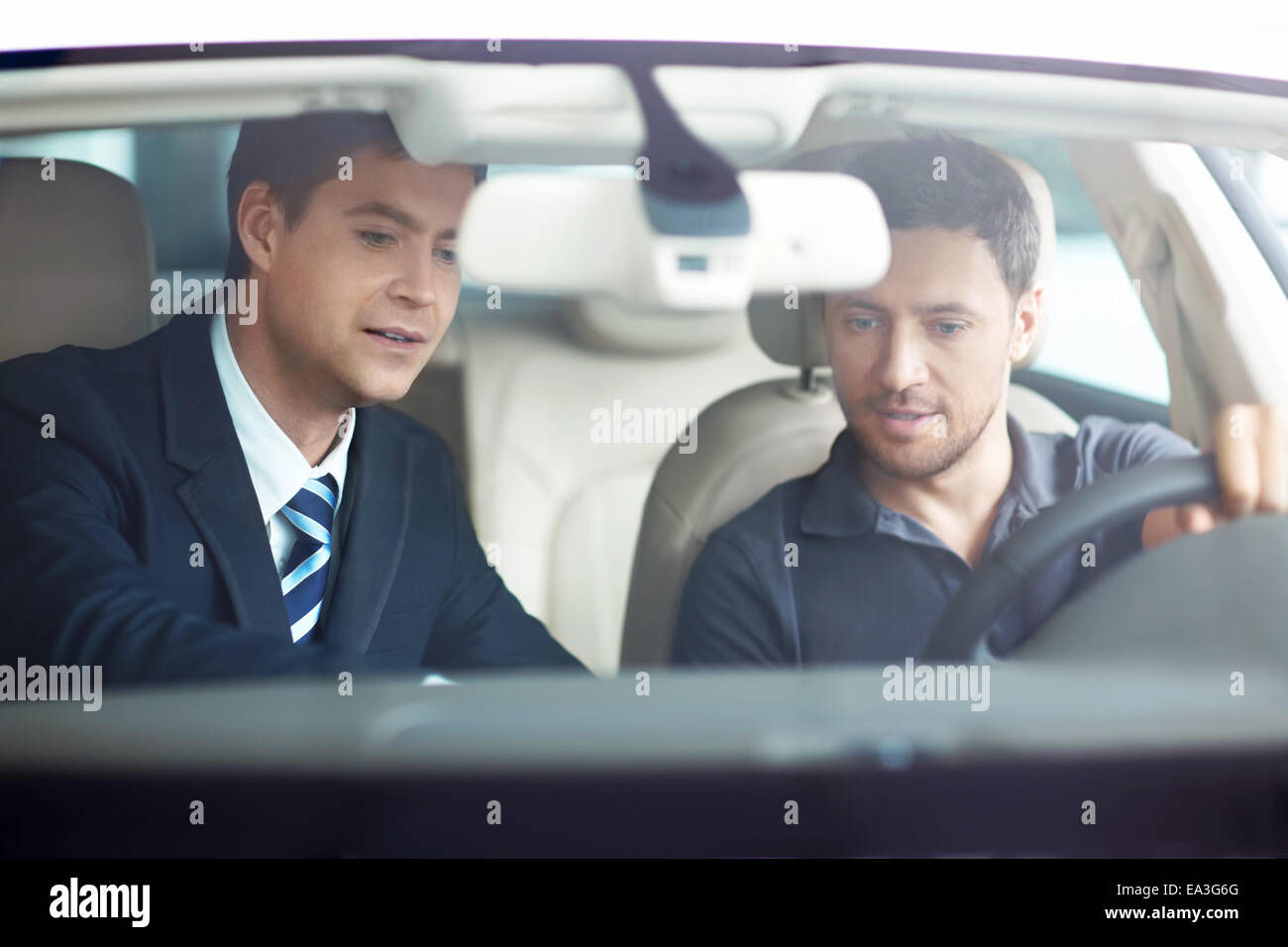 Sale of automobiles - Stock Image