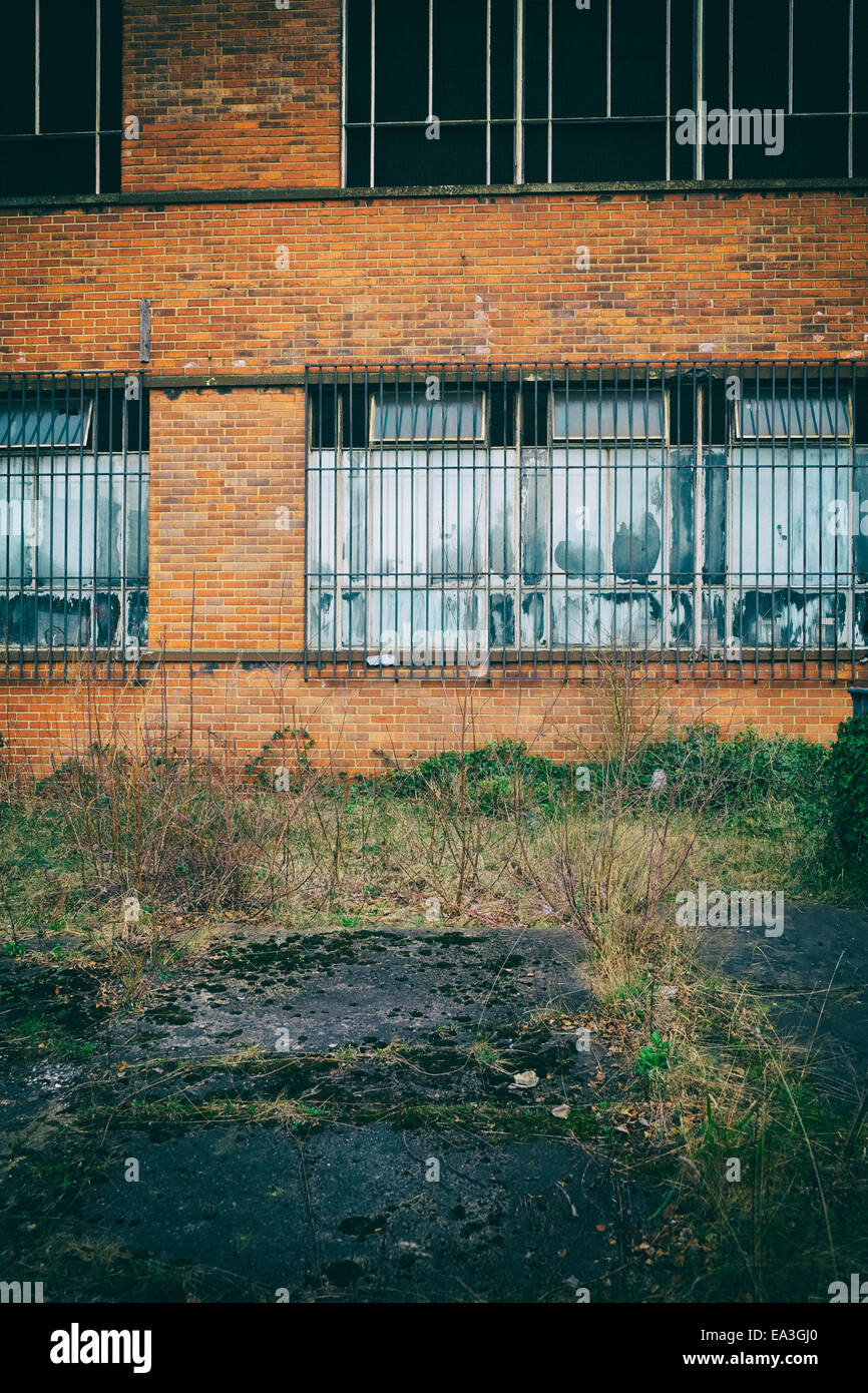 Urban decay, damaged office and business properties. Leeds, England, UK - Stock Image