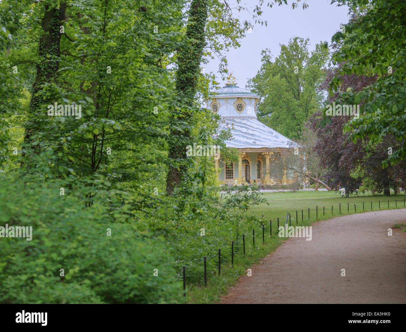 Tea house in Park Sanssouci in Potsdam - Stock Image