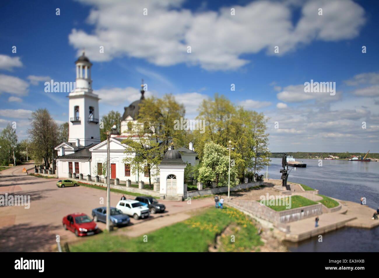 Church of Sts. Alexander Nevsky tilt - Stock Image