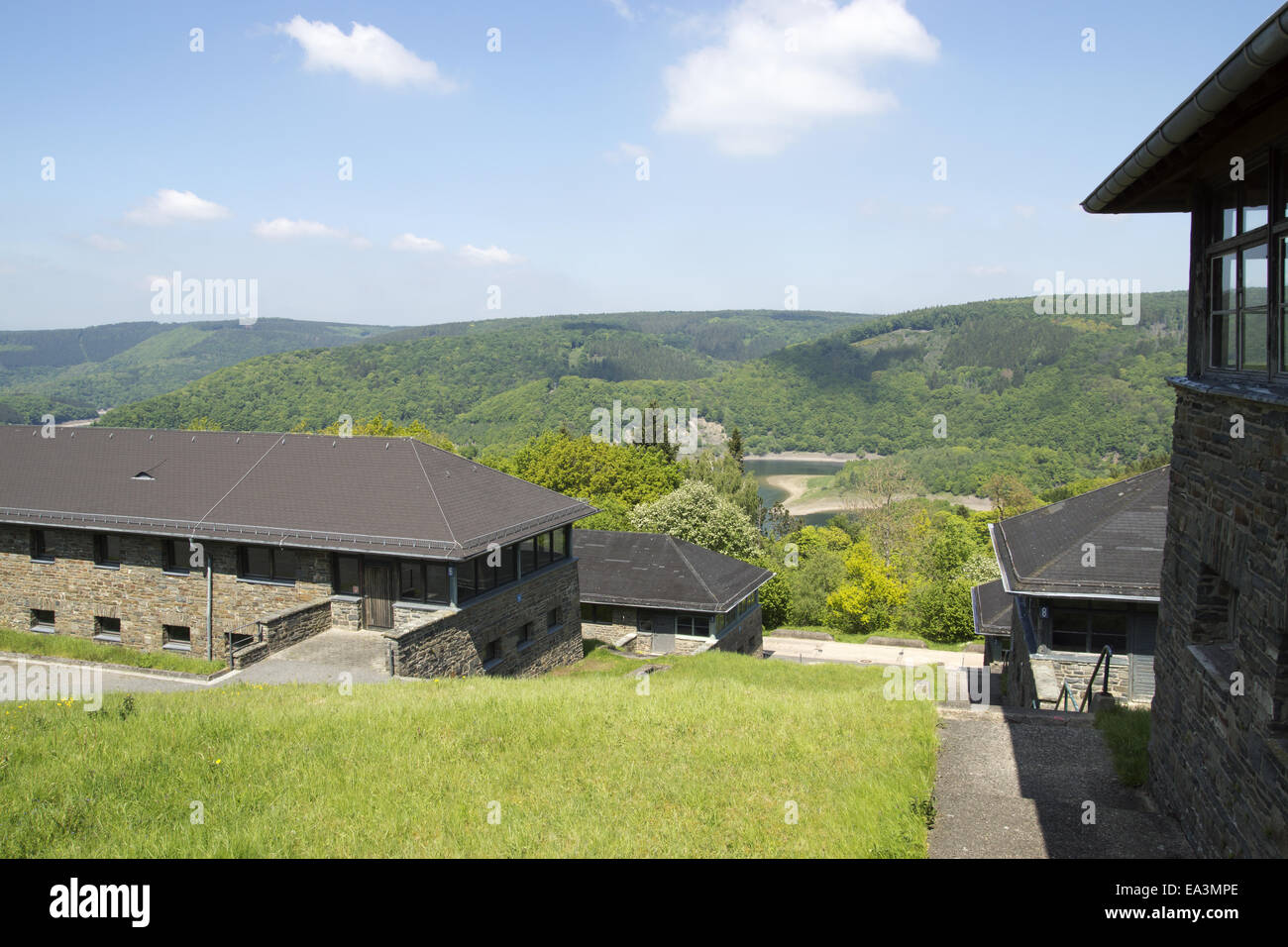 Vogelsang, Eifel, Germany, camaraderie-houses - Stock Image