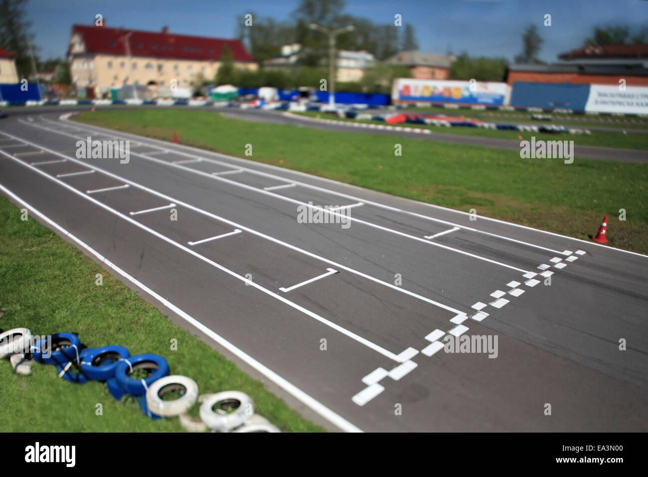 start line Tilt - Stock Image