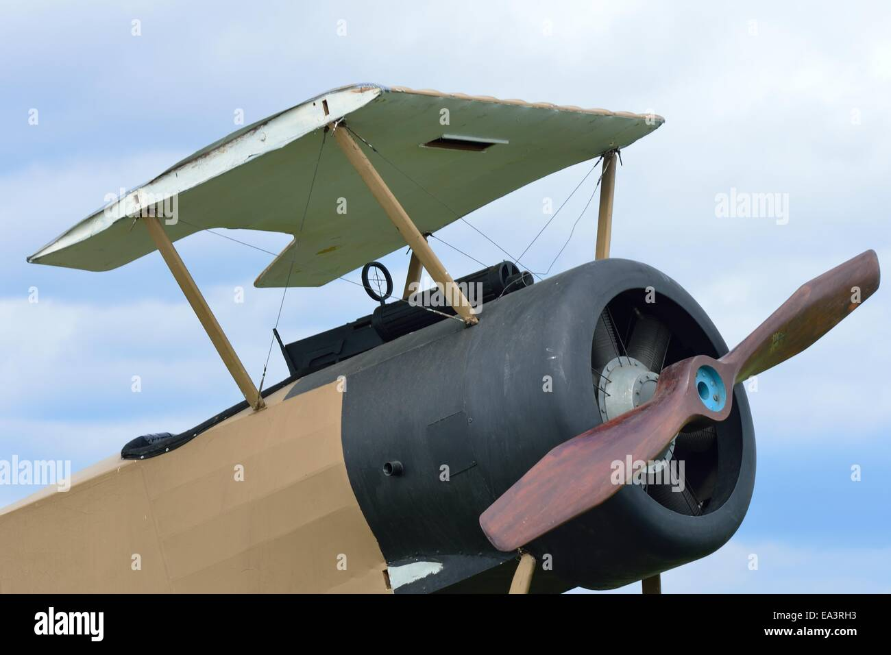 Wingless world war one plane - Stock Image