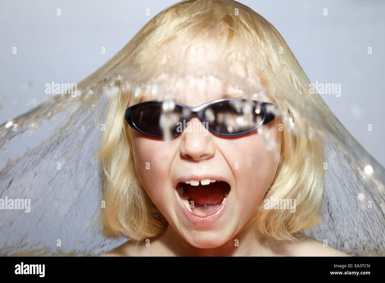 bathing fun - Stock Image