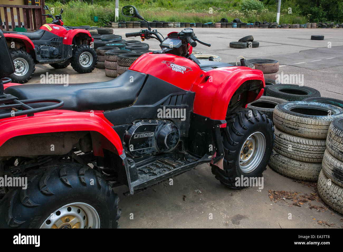 ATV, Moscow region, Russia - Stock Image