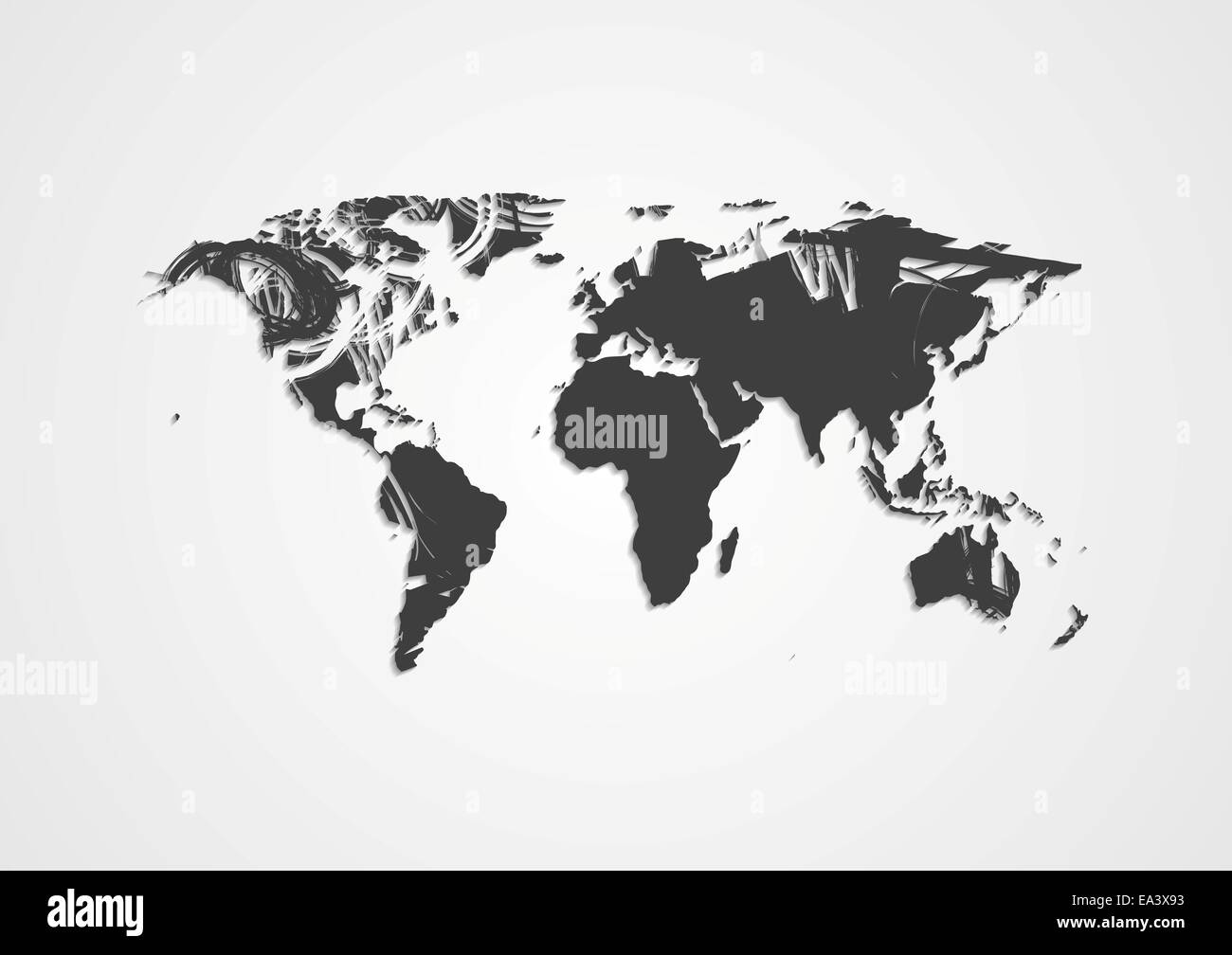 Line drawing world map stock photos line drawing world map stock grunge world map stock image gumiabroncs Images