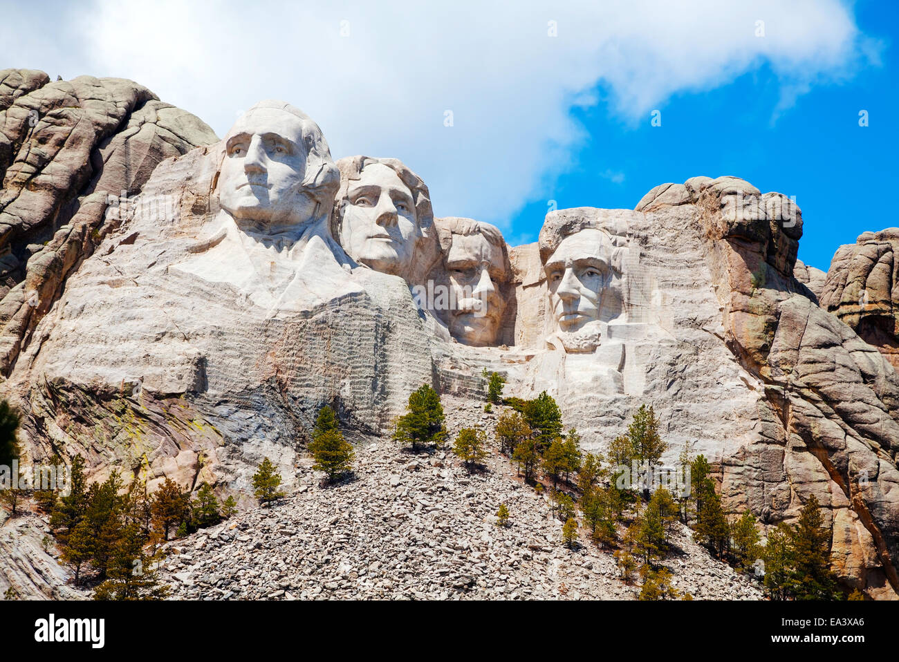 Mount Rushmore monument in South Dakota Stock Photo