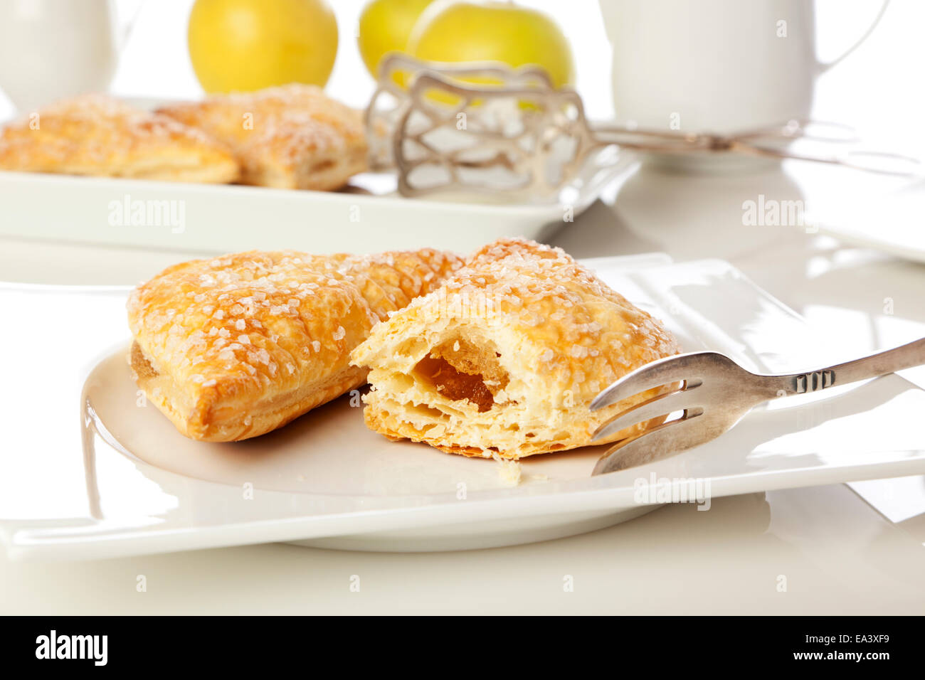 Apple turnover pastry - Stock Image