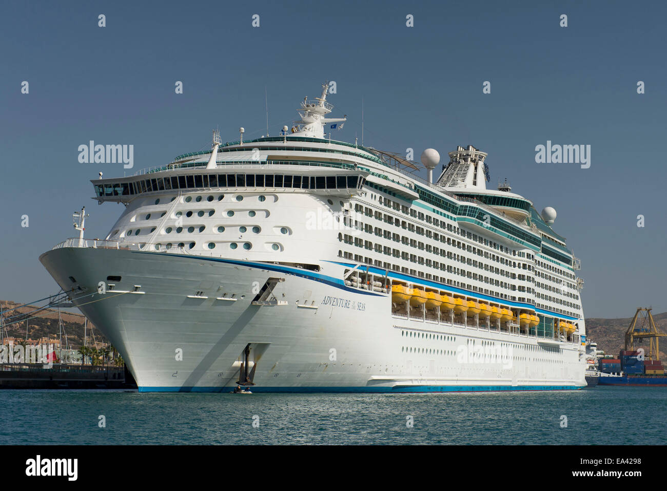 Royal Caribbean's Adventurer Of The Seas Cruise Ship In
