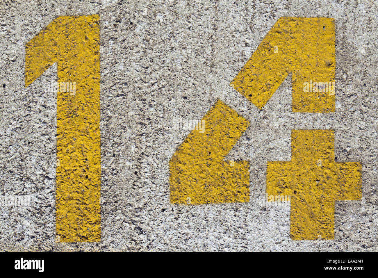 number 14 Stock Photo