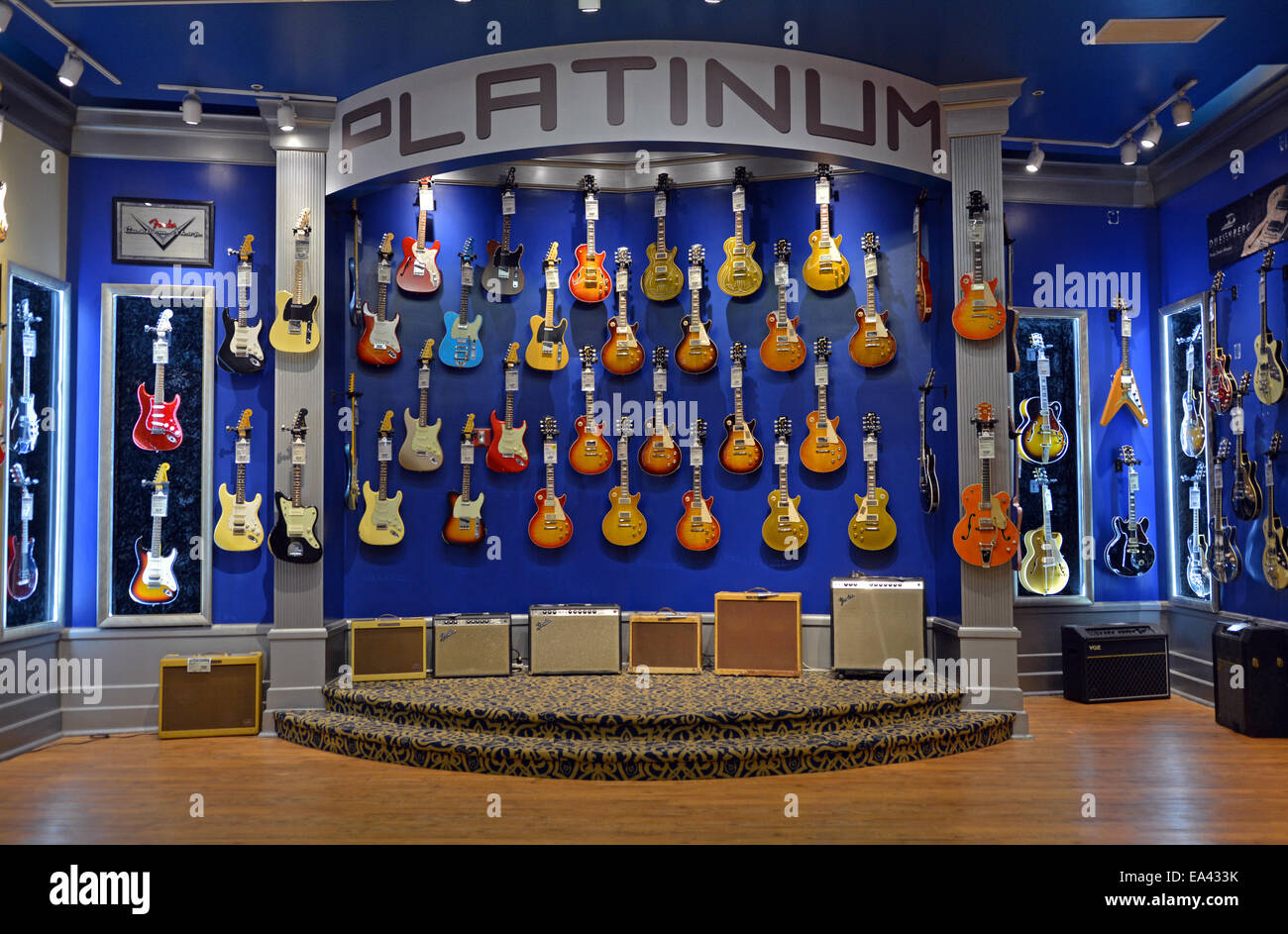 vintage guitars and amplifiers for sale at the guitar center on west stock photo 75078295 alamy. Black Bedroom Furniture Sets. Home Design Ideas
