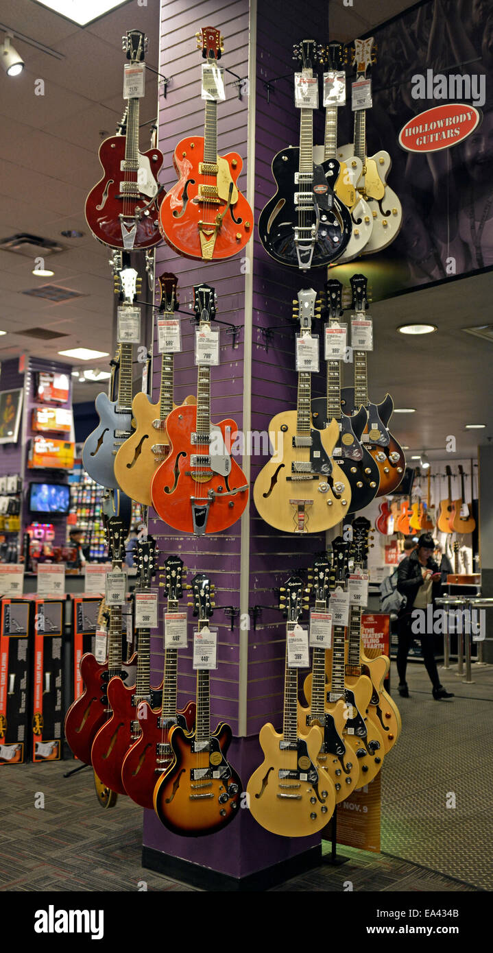 New Epiphone guitars for sale at the Guitar Center on West