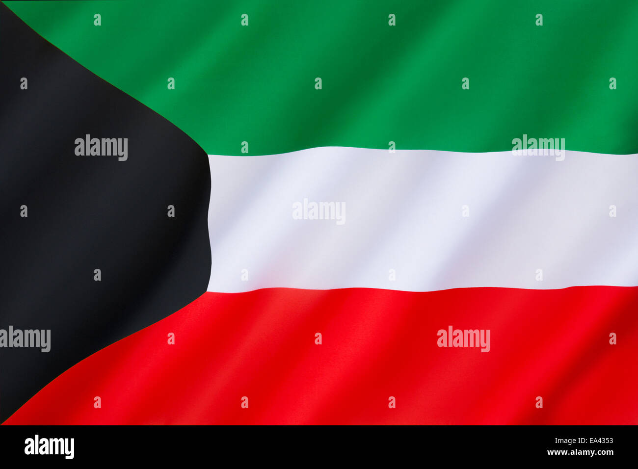 Flag of Kuwait - Stock Image