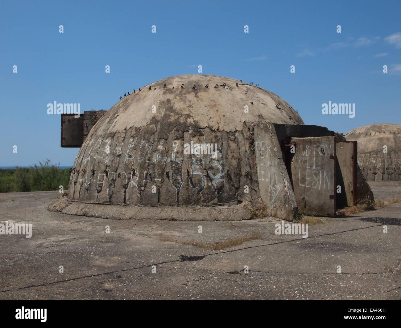 Bunker in Albania - Stock Image