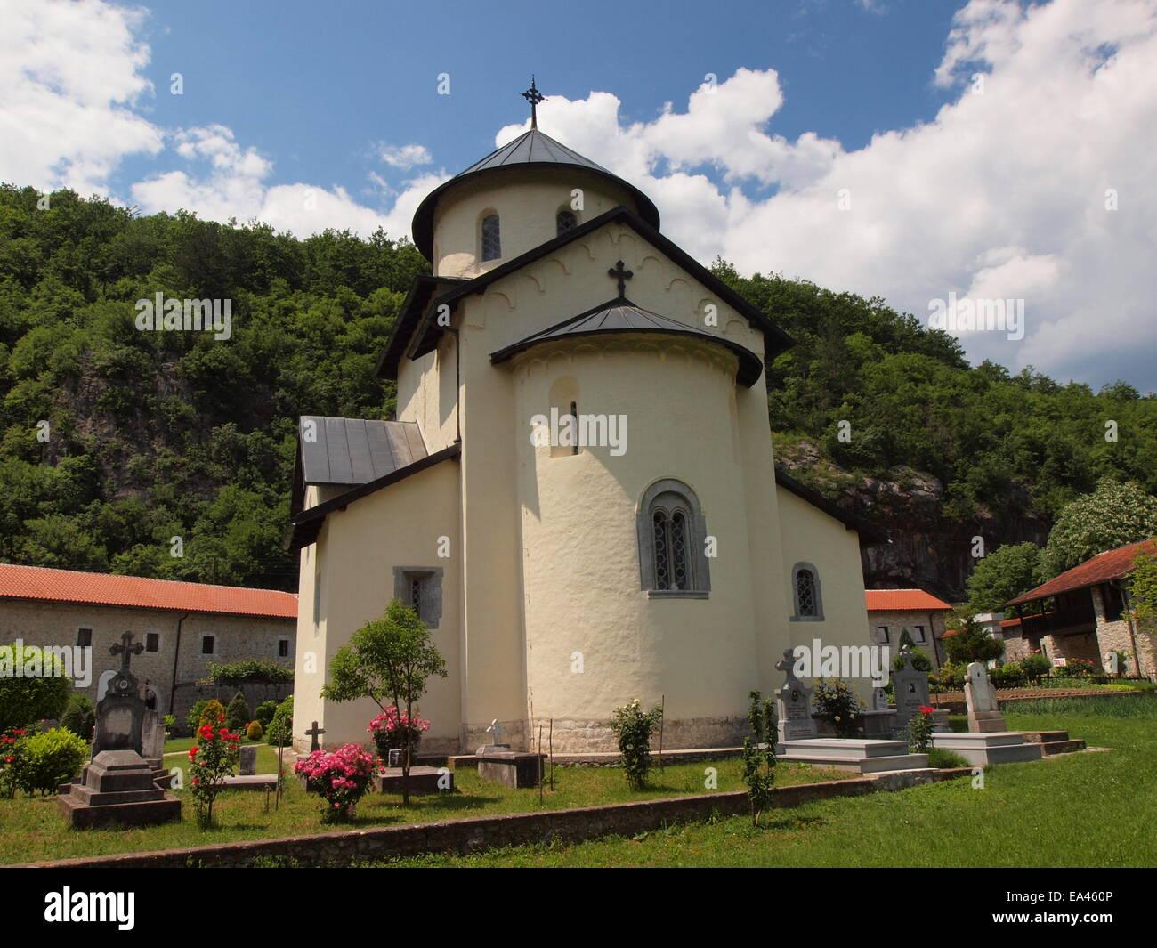 Moraca monastery in Montenegro - Stock Image
