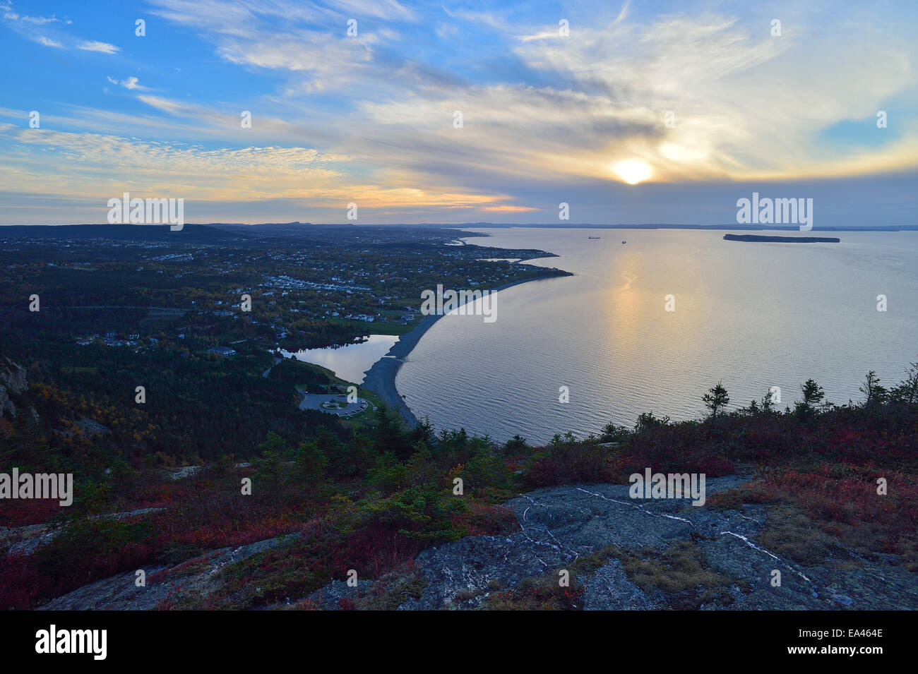 Beautiful View Of Sunset Over Conception Bay Newfoundland Taken