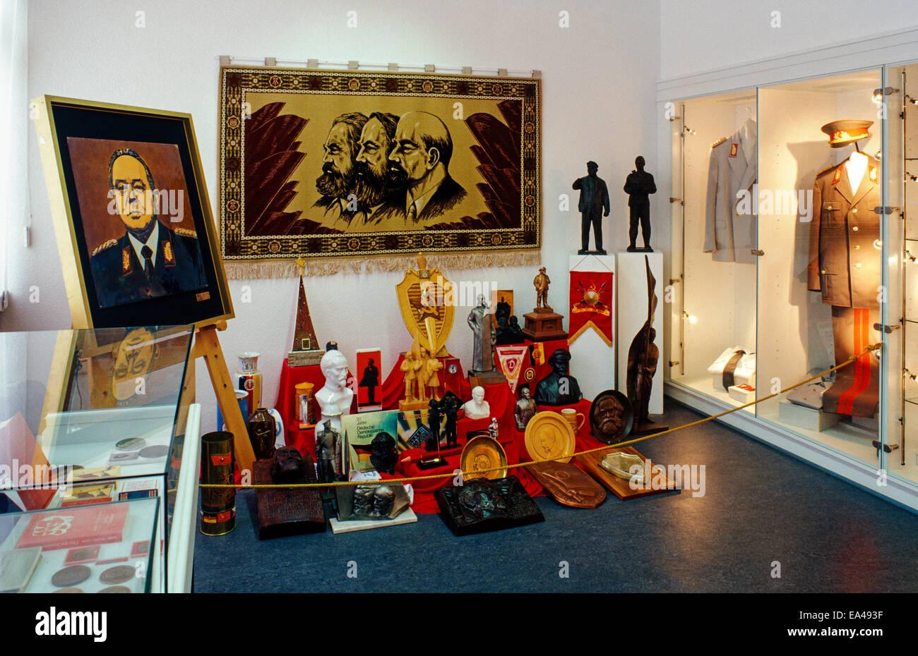 Devotional objects, Stasi Museum, Berlin - Stock Image