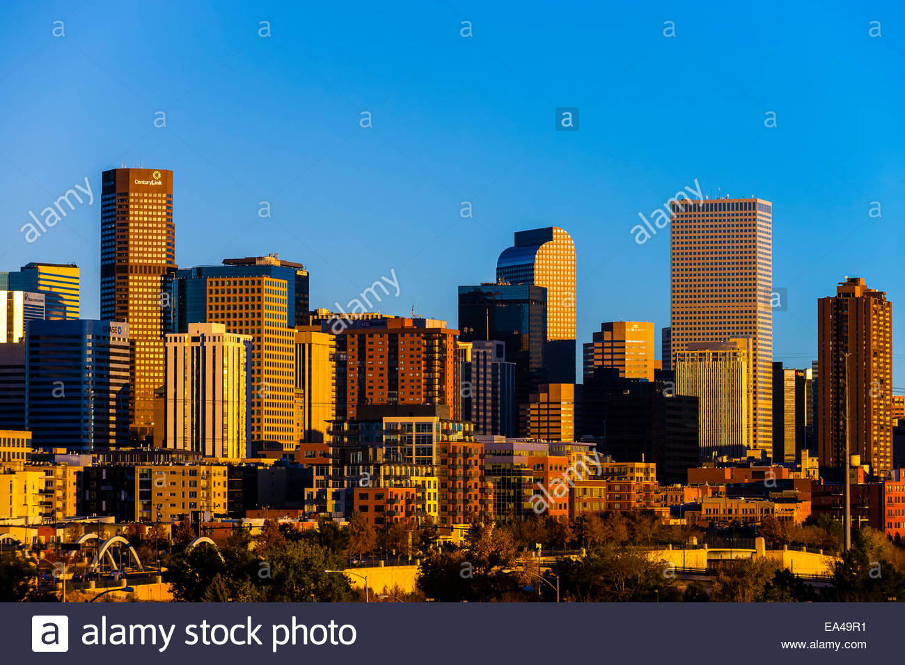 Downtown Denver, Colorado USA. - Stock Image