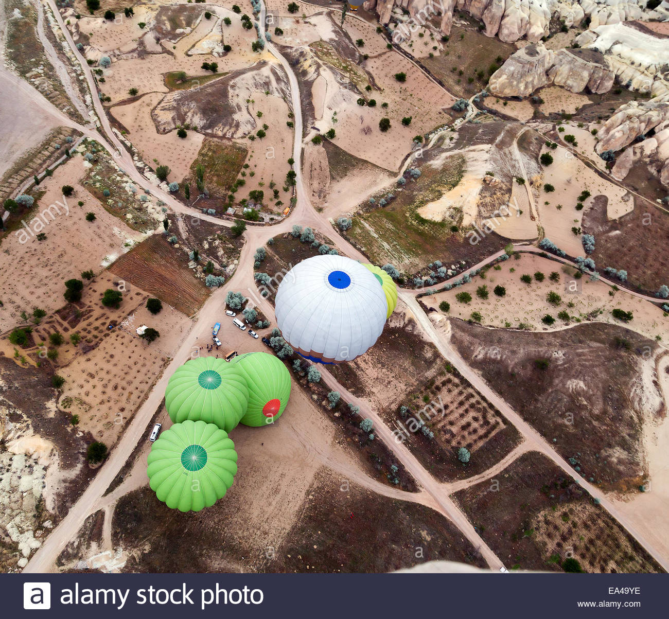 Colorful hot air balloons - Stock Image