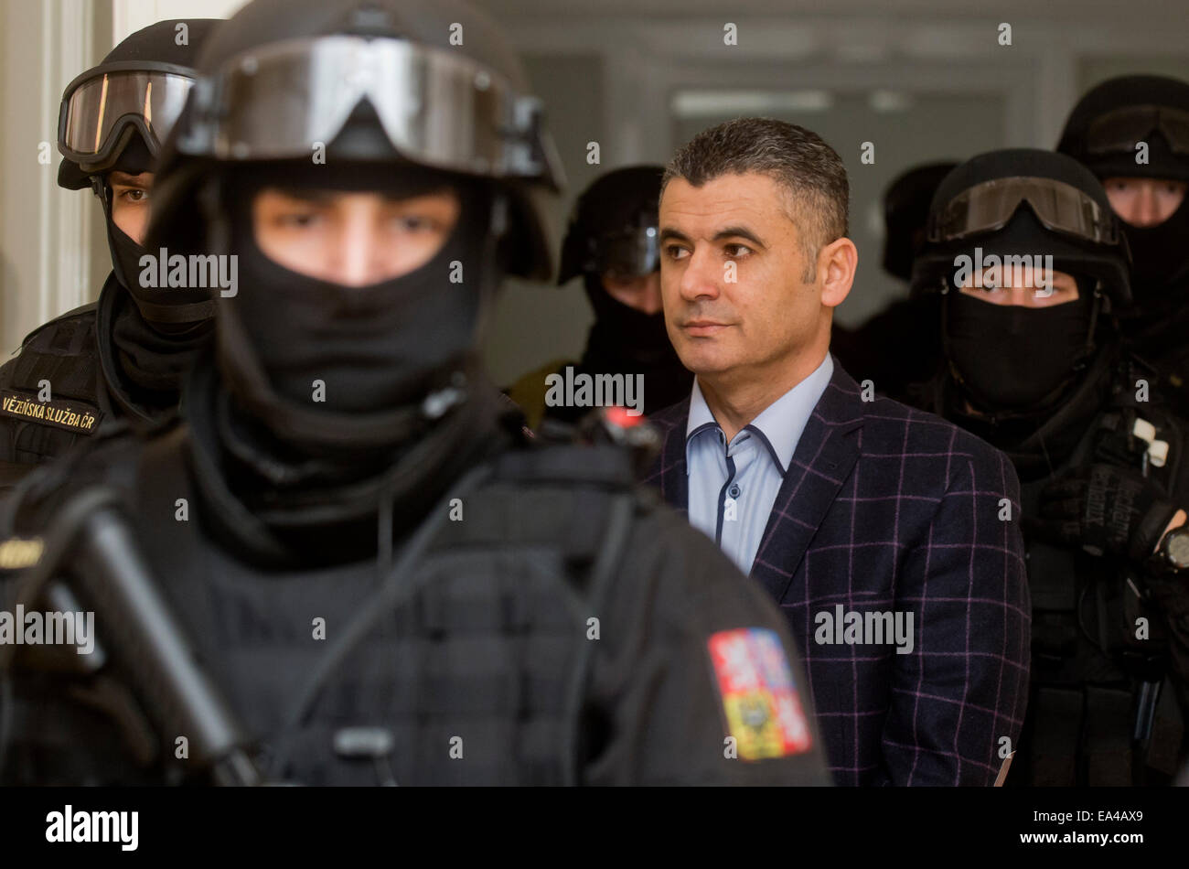 Prague, Czech Republic. 6th Nov, 2014. The Prague Municipal Court dismissed a request of the Lebanese Ali Fayad - Stock Image