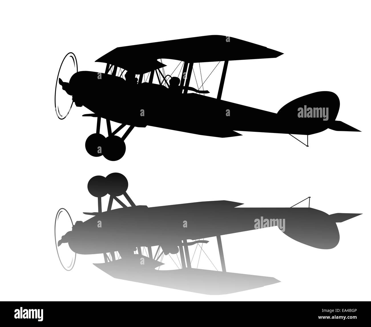 Vintage airplane - Stock Image