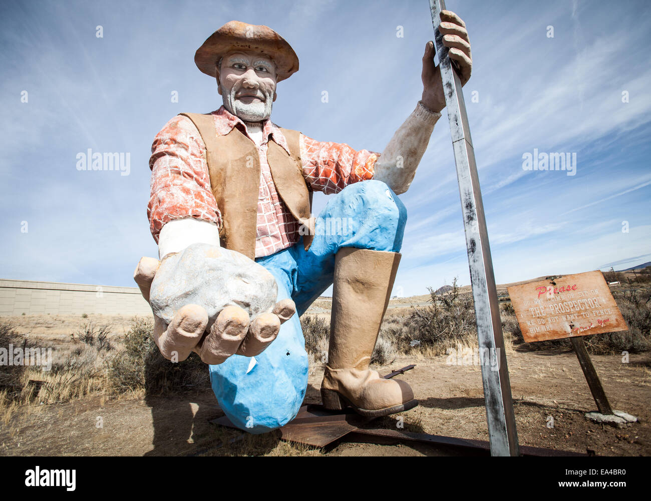 The giant mining prospector in Washoe Valley, Nevada. - Stock Image