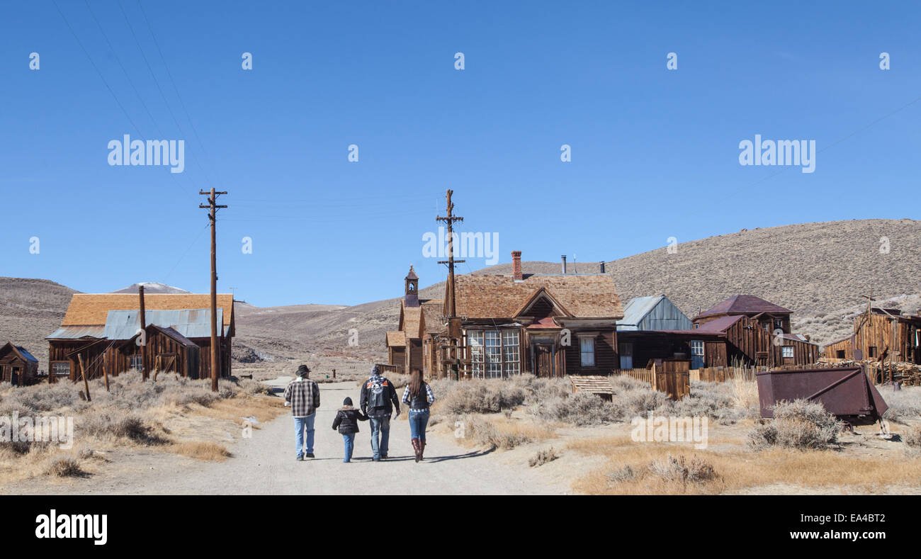 Bodie State Historic Park in Bodie, California . A former mining town now frozen in time and often referred to as - Stock Image