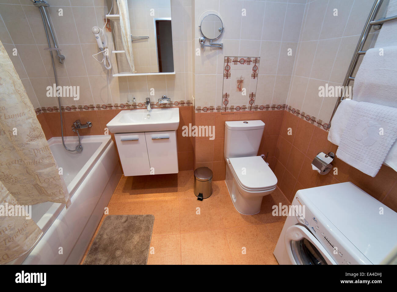 bathroom wc toilet lavatory room interior design stock photo