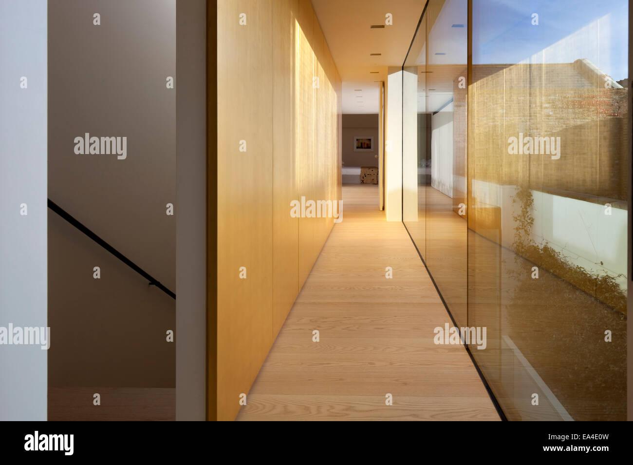 Interior hallway of Notting Hill townhouse, London, UK. - Stock Image