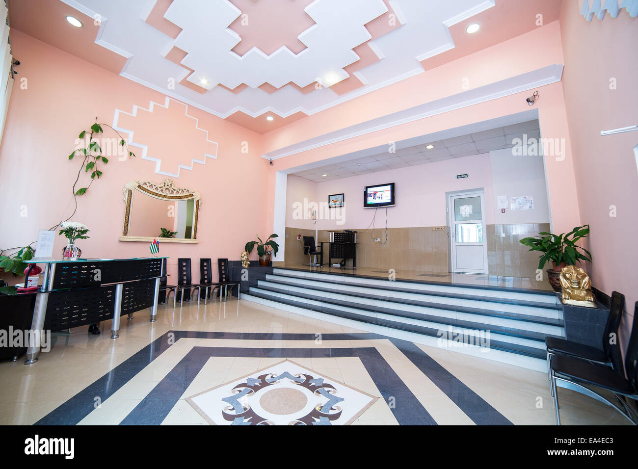 Luxury Lobby In Hotel Reception Hall Interior Design Stock Photo Alamy