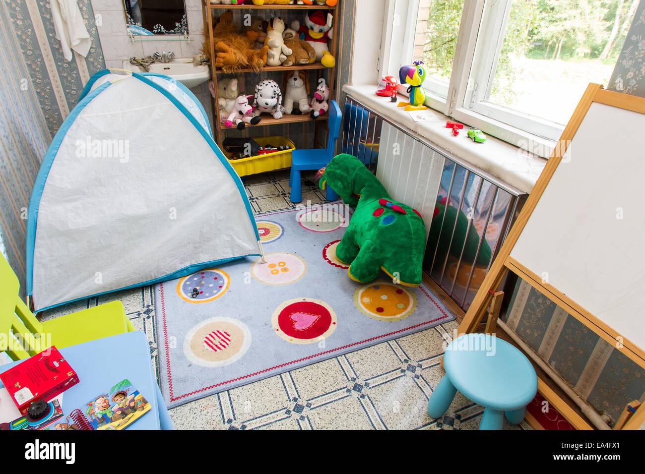 Children's room, modern home Stock Photo