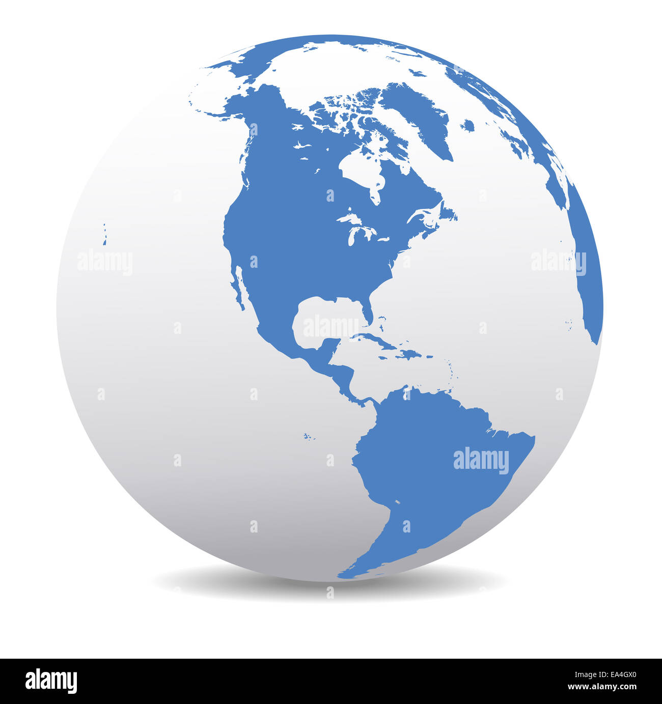 Canada On Map Of The World.America Canada World Earth Icon Globe Map Stock Photo 75089112 Alamy