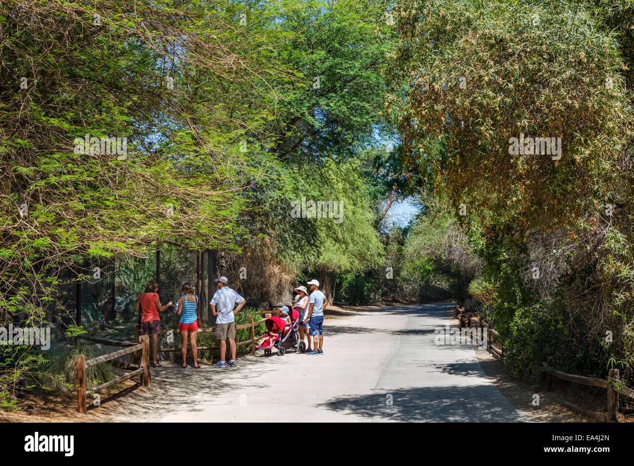 Visitors at the Living Desert Zoo and Gardens, Palm Desert, Riverside County, Southern California, USA - Stock Image