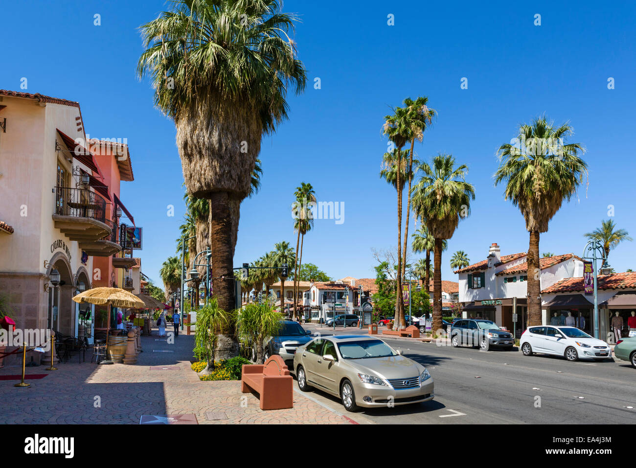 Stores And Restaurants On S Palm Canyon Drive In Downtown
