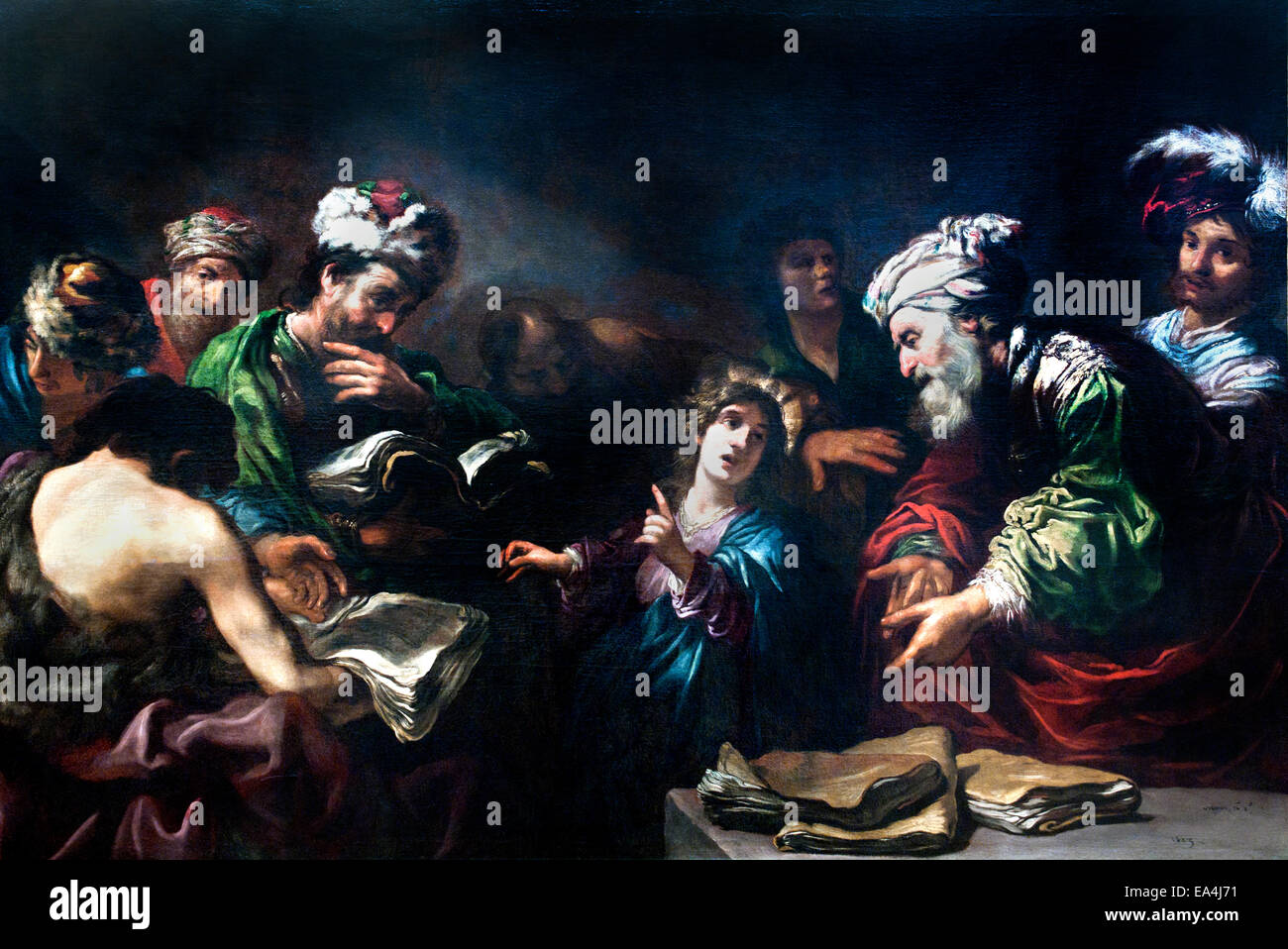 Claude Vignon (1593-1670): Jesus Among the Doctors (1623). France French - Stock Image