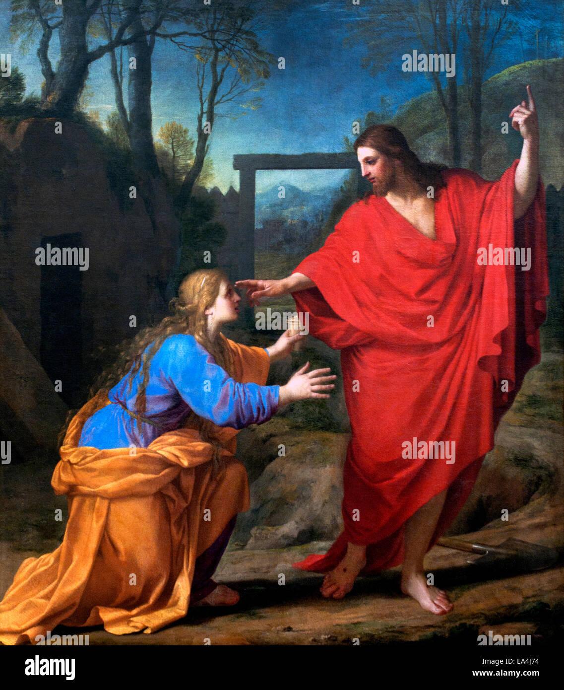 L'apparition du Christ à la Madeleine - The Appearance of Christ to the Magdalen Eustache Le Sueur or Lesueur - Stock Image