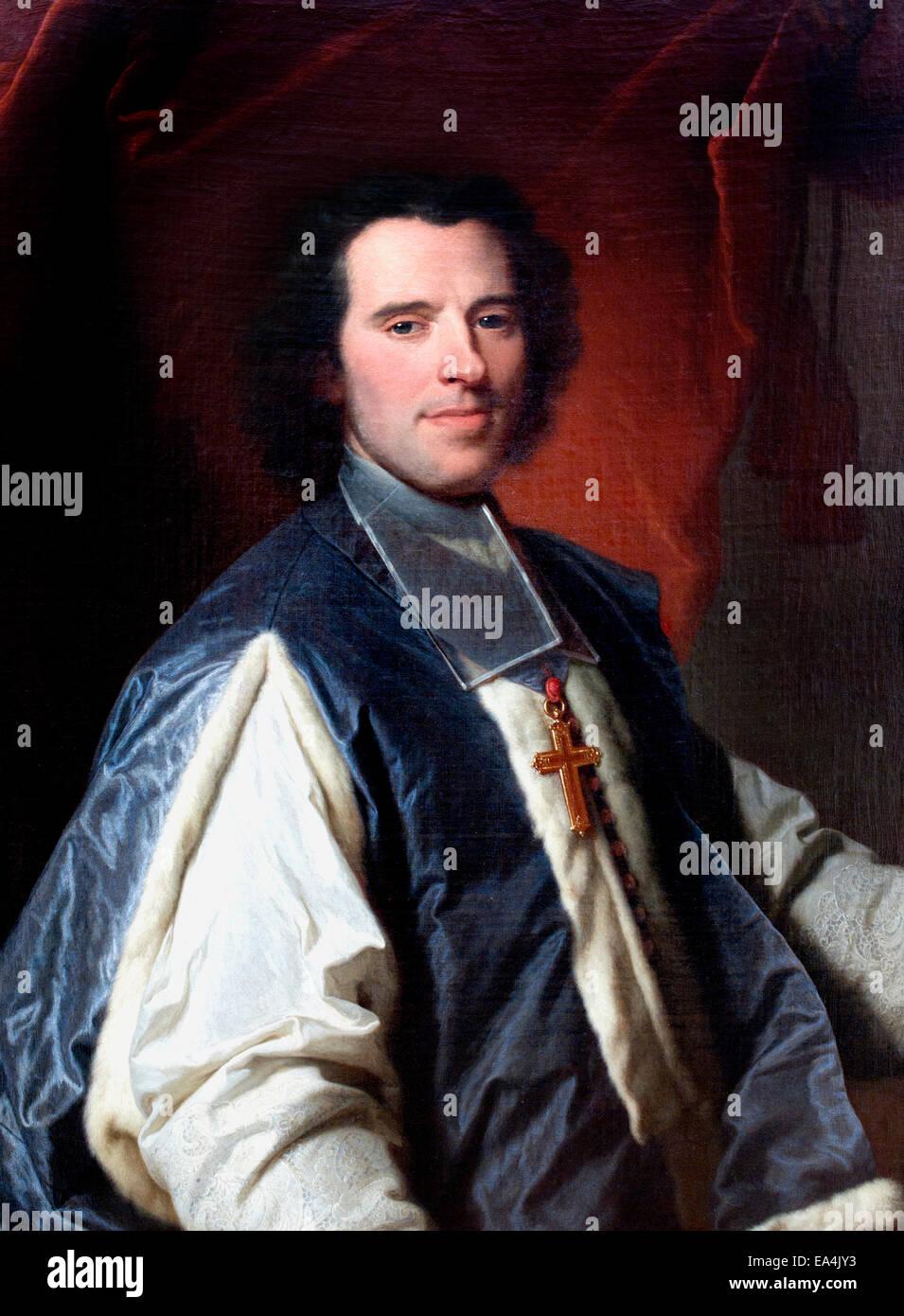 Portrait of Claude de Saint-Simon (1733 ) Hyacinthe Rigaud (1659-1743)  France French - Stock Image