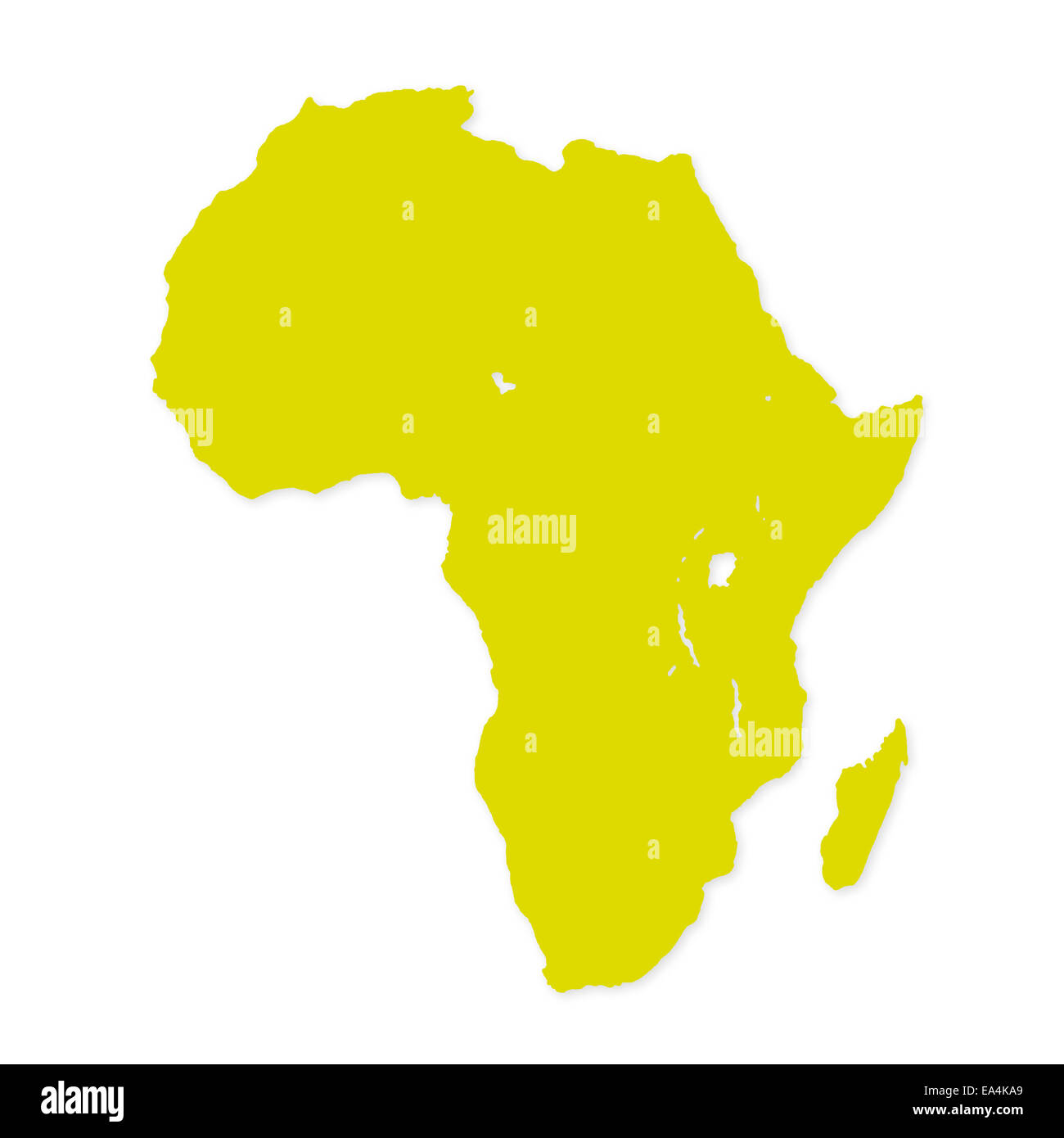 Image of modern Africa map illustration - Stock Image