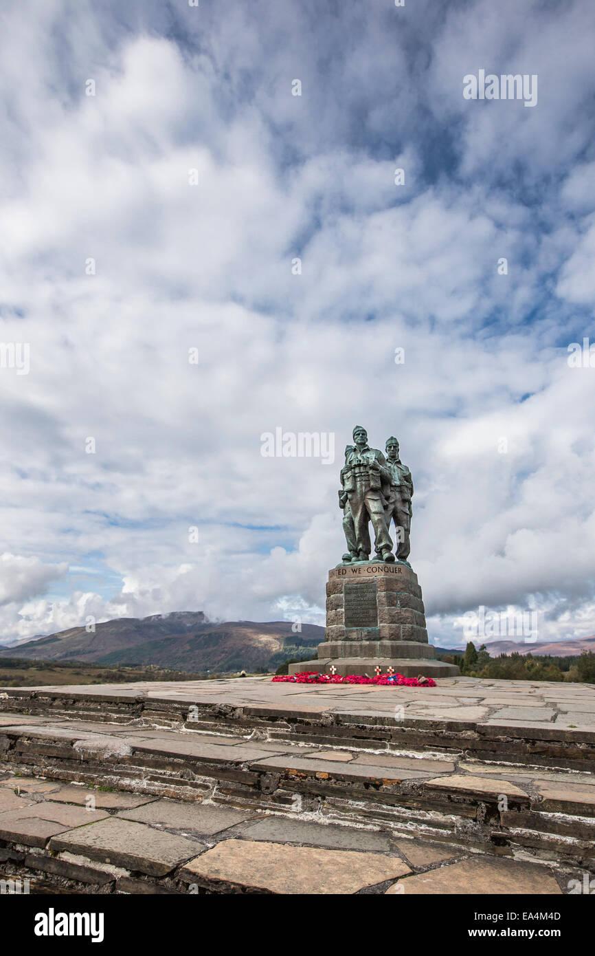 Commando Memorial at Spean Bridge. - Stock Image