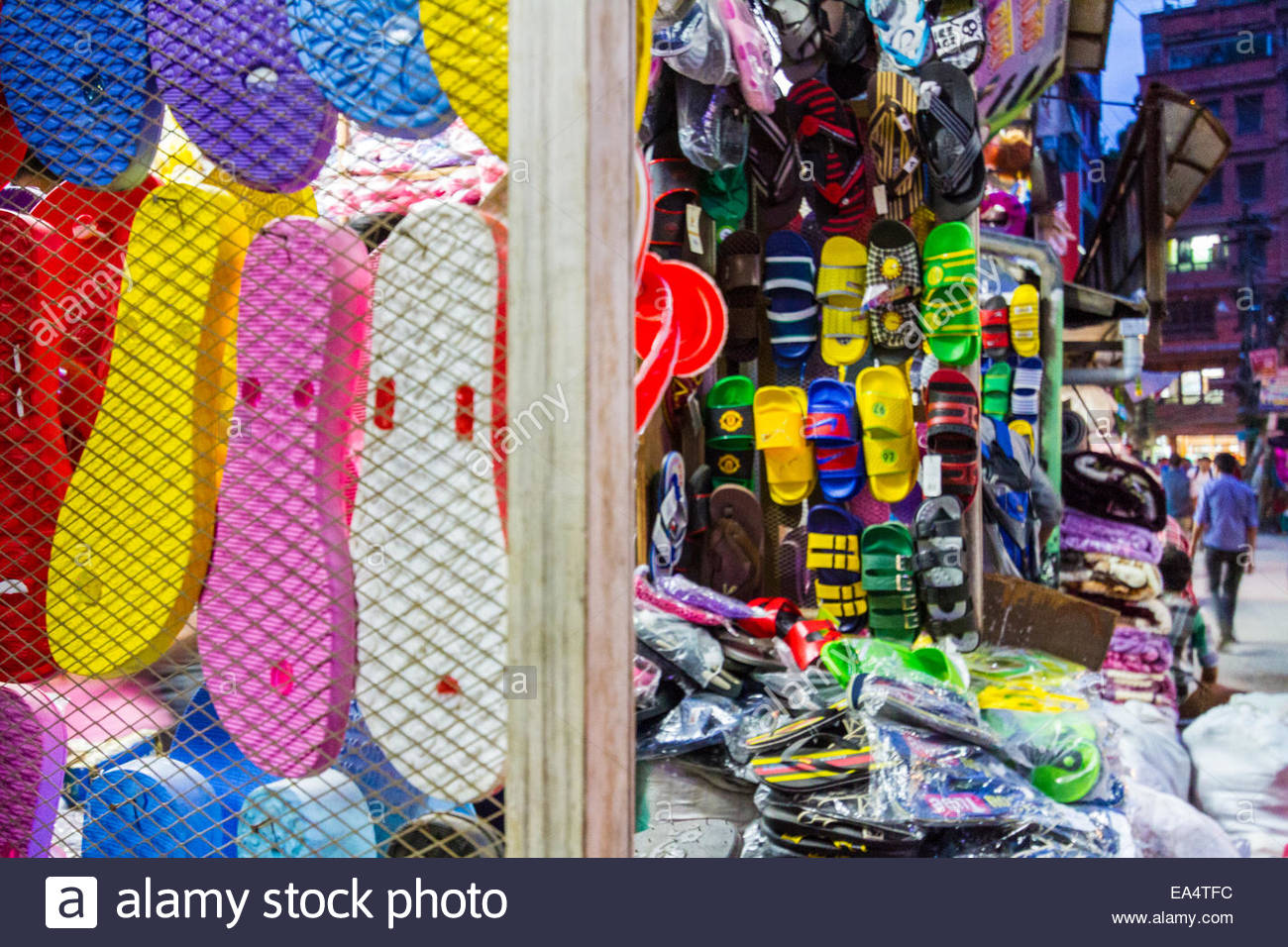 Footwear shop - Nepal - Stock Image
