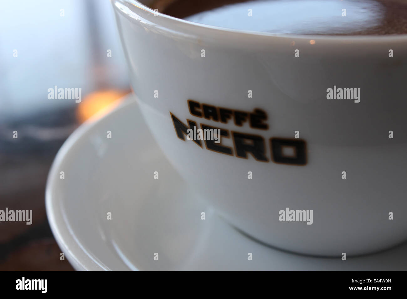 A Caffe Nero coffee made fresh - Stock Image