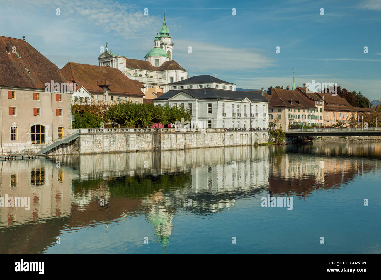 Solothurn old town on Aare river, Switzerland. - Stock Image