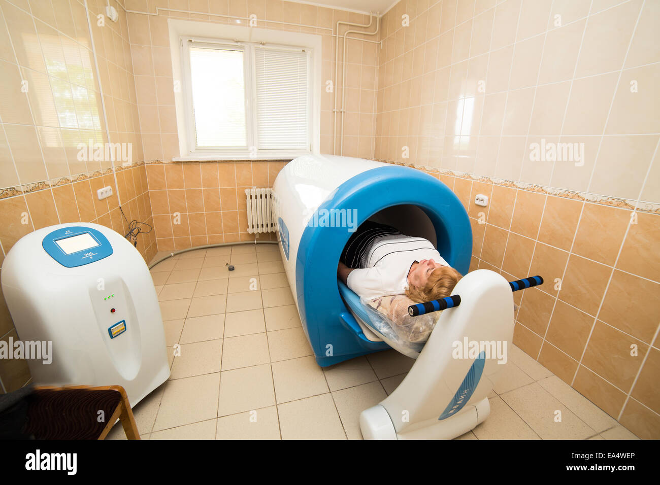 Magnetic therapy device in hospital - Stock Image