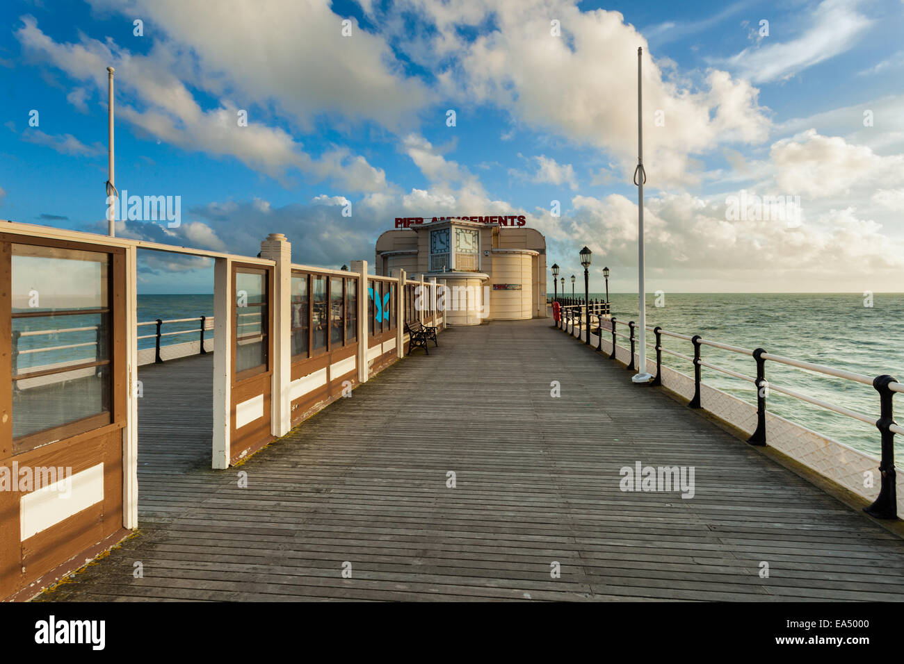 Afternoon at the Worthing Pier, West Sussex, England. - Stock Image