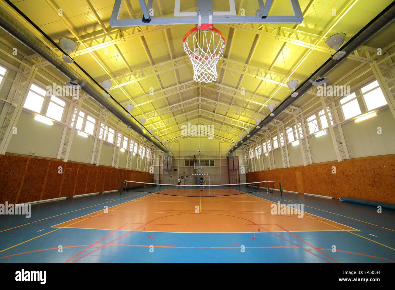 Basketball sports hall - Stock Image