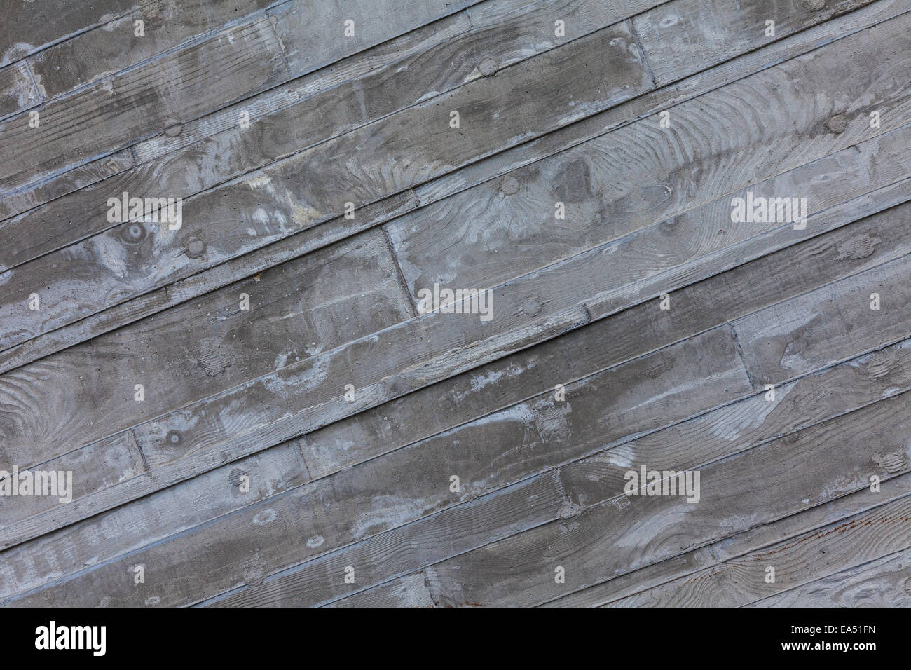 Exterior Concrete Wall With The Texture Of Rough Sawn Wooden Planks On The  Campus Of UBC, Vancouver