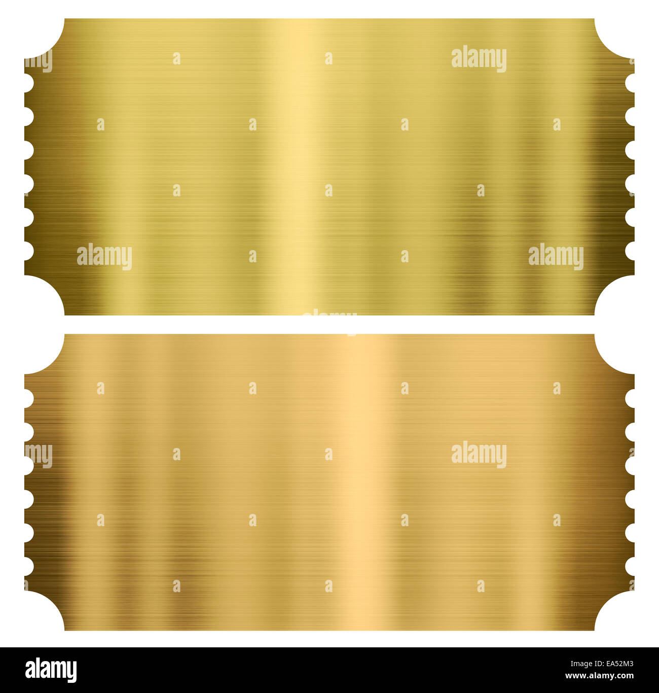 gold cinema or theather tickets set isolated Stock Photo: 75099923 ...